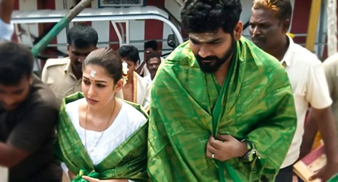 Nayanthara and Vignesh Shivan in Temple Visit