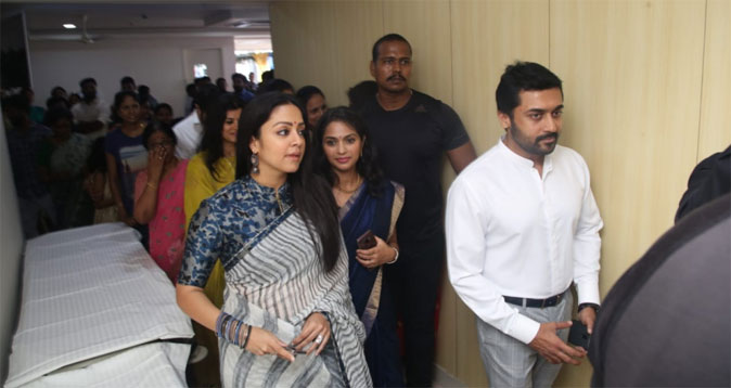 Surya and Jyothika in Promed Hospital