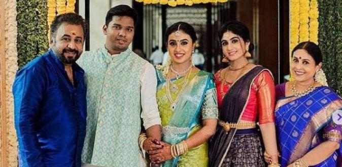 நடிகை சரண்யா பொன்வண்ணன் மகளுக்கு திருமணம்!