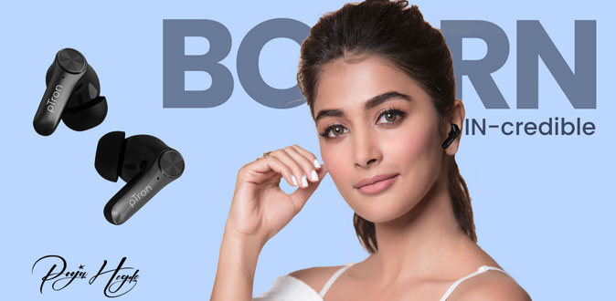 pTron ropes in the iconic Pooja Hegde as Brand Ambassador