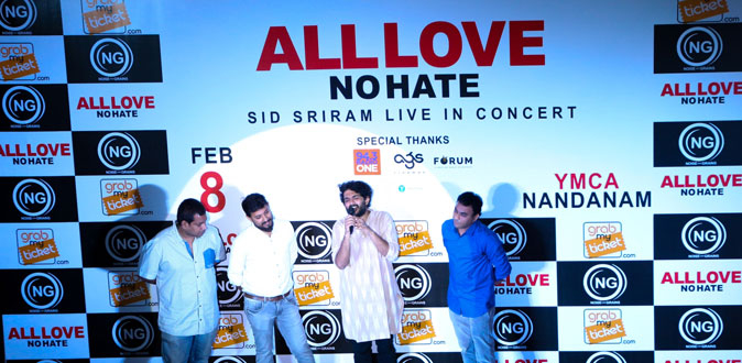 'Mesmerizing Prince' Sid Sriram's South Indian Music Tour - 'All Love No Hate'