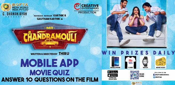 Mr.Chandramouli movie team launch Mobile App based Movie Quiz