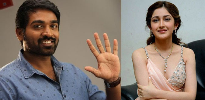 Vijay Sethupathi fly to France with Actress Sayyeshaa Saigal