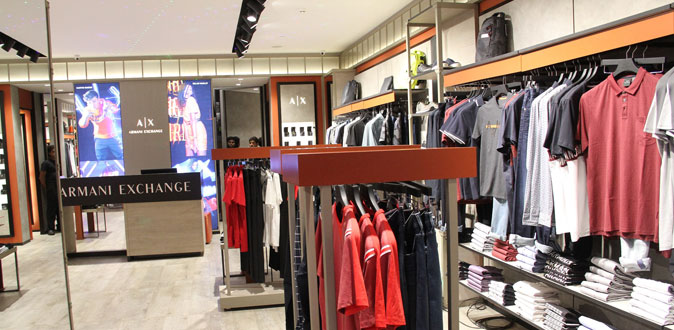 Armani Exchange launches its first store in Chennai at Express Avenue Mall