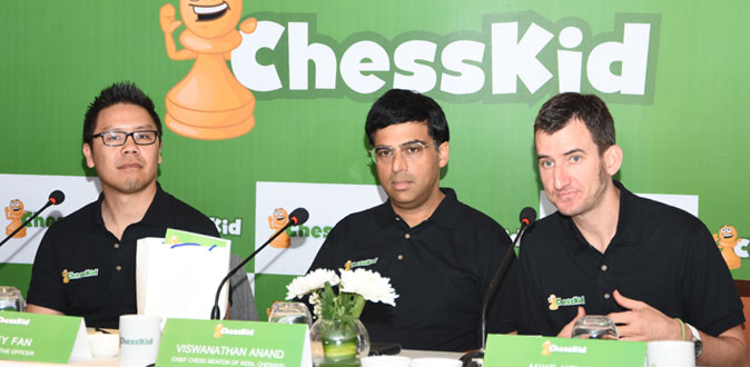 Grandmaster Viswanathan Anand onboard ChessKid's India edition to mentor kids