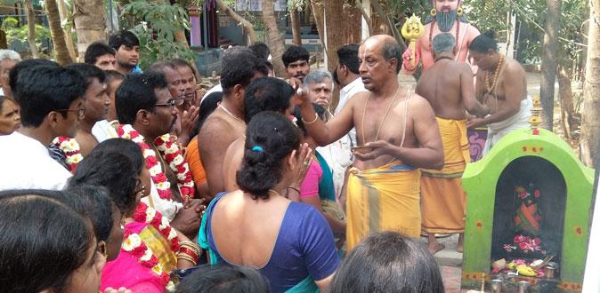 தன்வந்திரி பீடத்தில் கிராம தேவதா வழிபாடு நடைபெற்றது