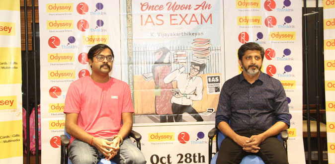 Vijay Karthikeyan IAS launched his first book 'Once upon an IAS Exam'