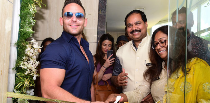 Hollywood Actor Adam Collins Launches Page3 Salon & Makeover Studio, Adayar