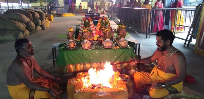 தன்வந்திரி பீடத்தில் நடைபெற்ற தேய்பிறை அஷ்டமி யாகம்