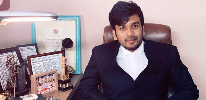 Harihara arun somasankar is the Youngest Indian to be appointed as the Legal Advisor for International Court