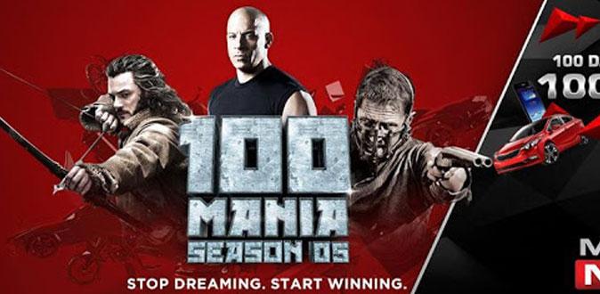 MOVIES NOW's '100 Mania' season 5 start in Dec.15th