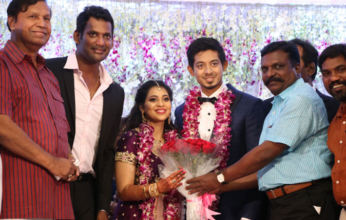 Vishal's Sister Aishwarya - Krithish Wedding Reception